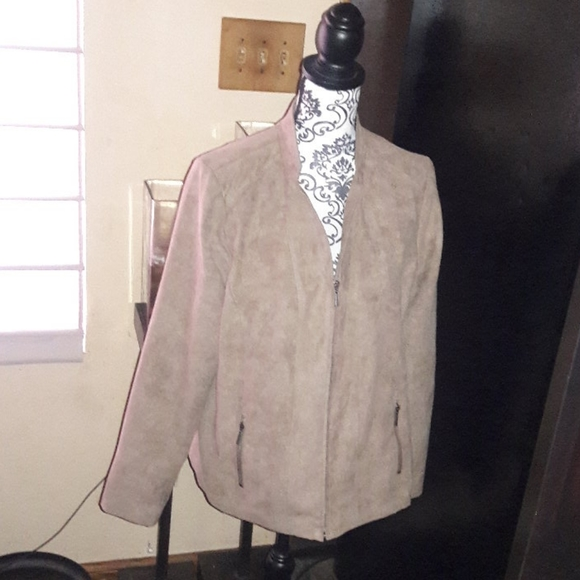 Studio Works Jackets & Blazers - NEW WITH TAGS!!! Faux Suede , Color Mud Bath. Size